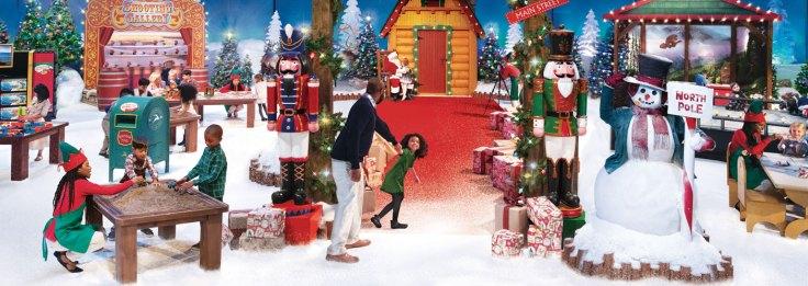 Child Pulling Father into Santa's Wonderland