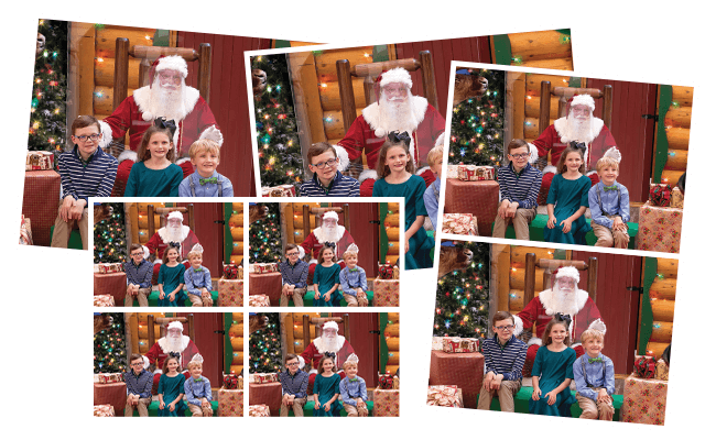 deals on santa photo packages