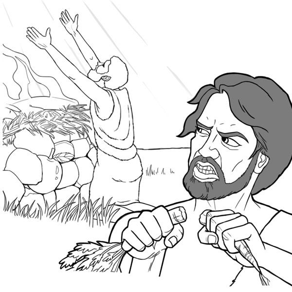 Bybel Inkleur Prente Vir Kinders Sketch Coloring Page