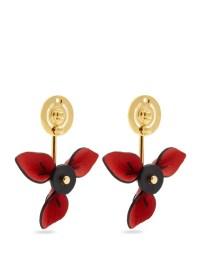 Leather flower drop earrings | Marni | MATCHESFASHION.COM UK