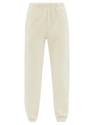 Les Tien - Brushed-back Cotton Track Pants - Womens - Ivory