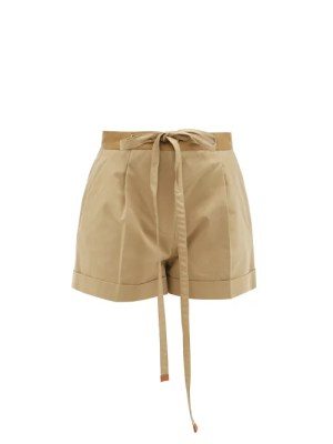 Loewe - Pleated Wide-leg Shorts - Womens - Beige