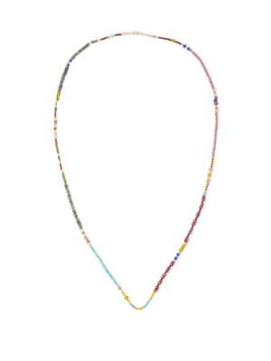 Marie Lichtenberg - Glass Bead & 9kt Gold Choker - Mens - Multi