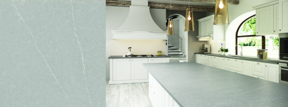 Image Result For White Kitchen With Grey Marble Countertops