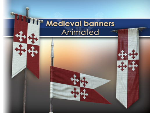 medieval banners pack asset