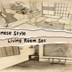 Japanese Living Room Set Modern Sofa Furniture Style Asset Store