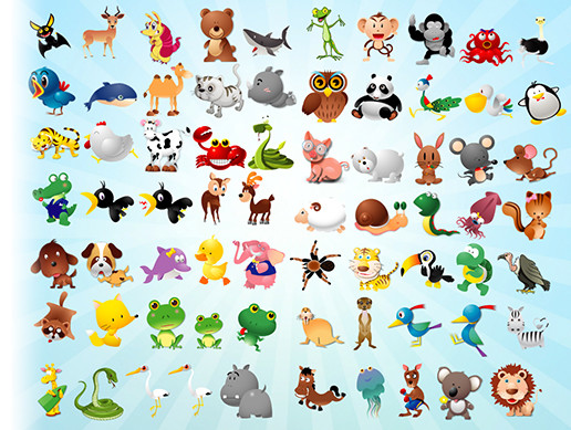 animated toon animals asset