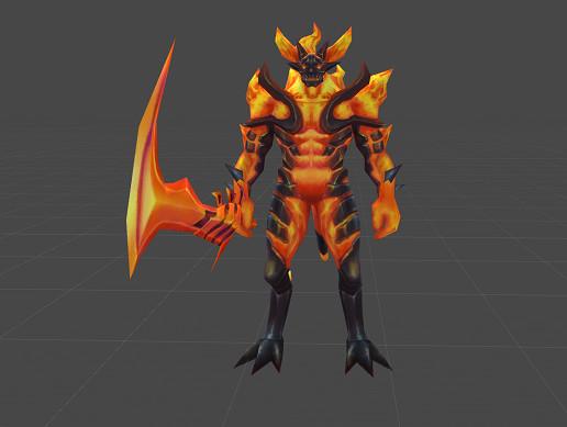 fire demon realistic asset