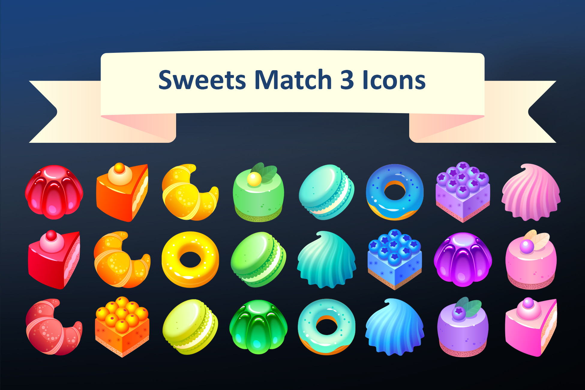 Sweets Match 3 Icons