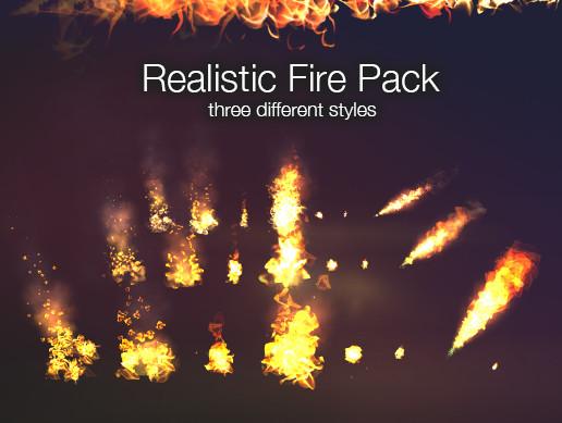 realistic fire vfx asset