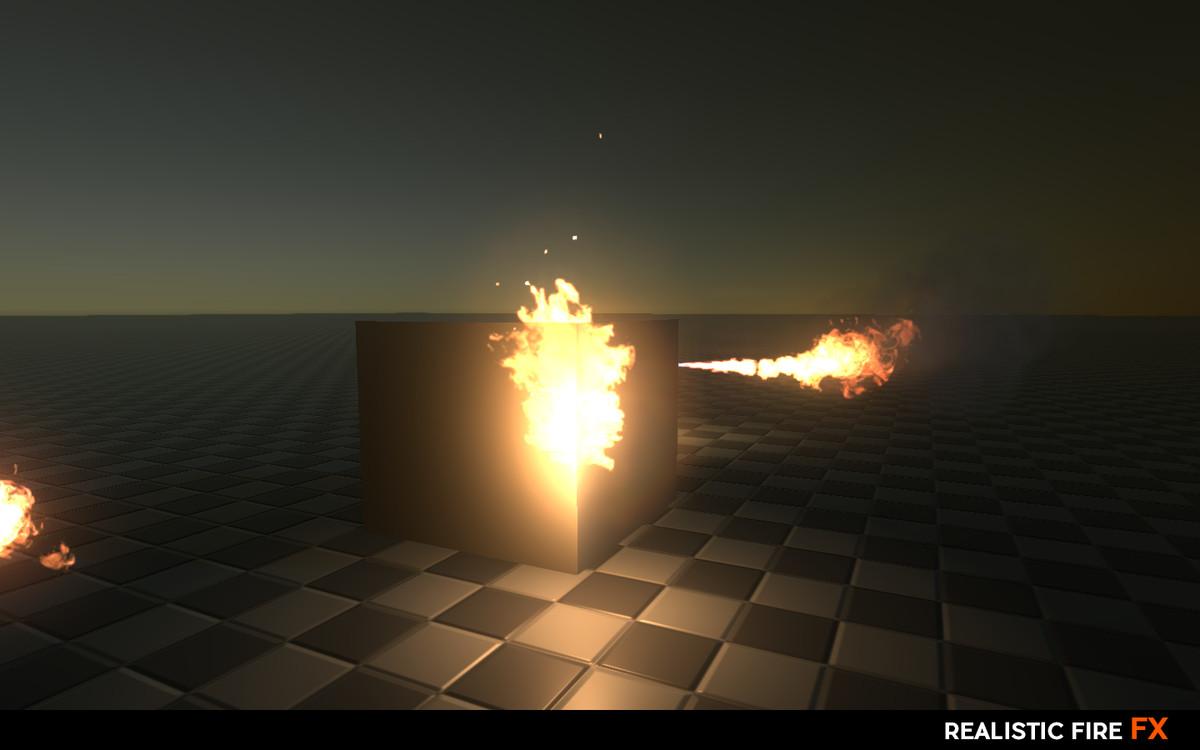 realistic fire fx asset