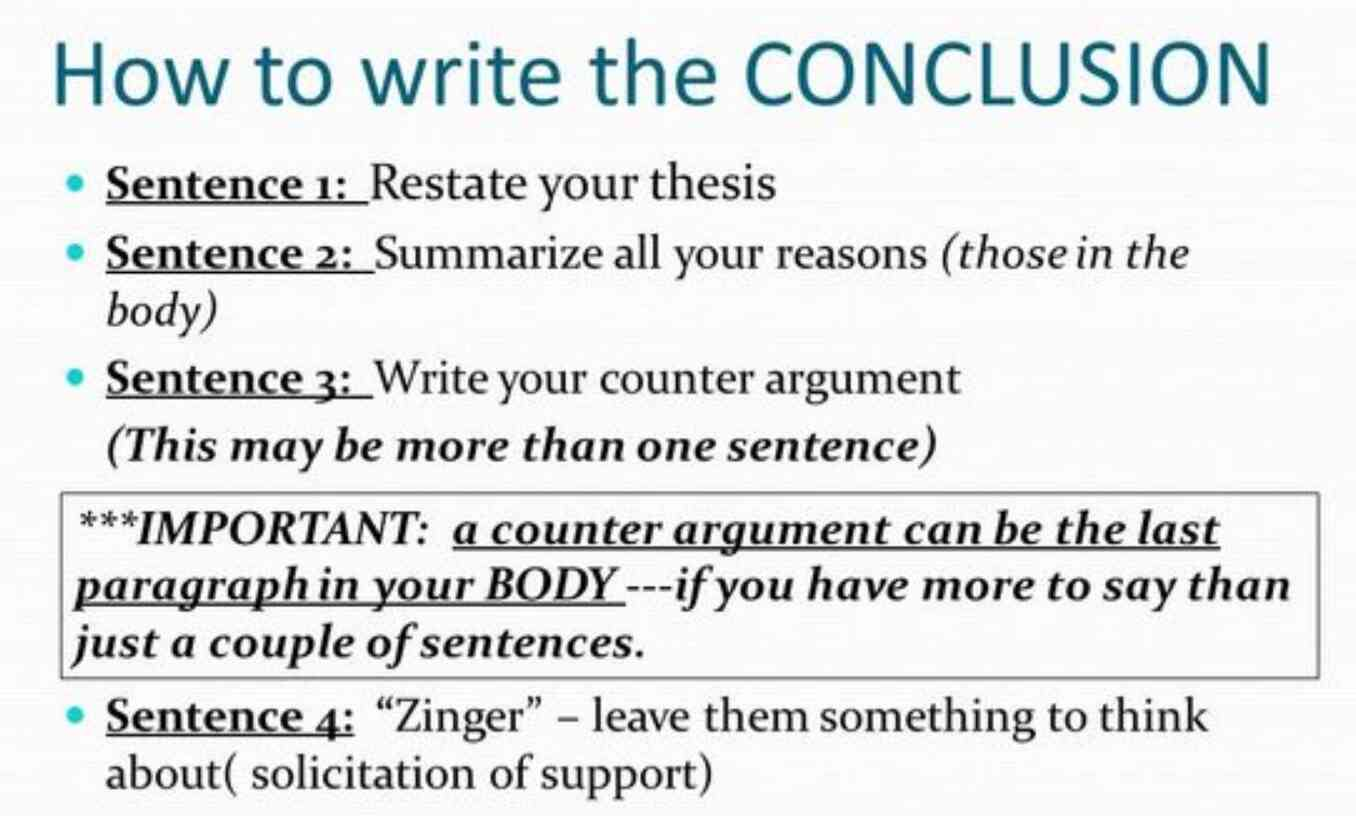 How To Write A Conclusion For Research Paper Structure