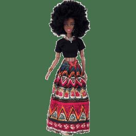 Boneca Afro c/ saia