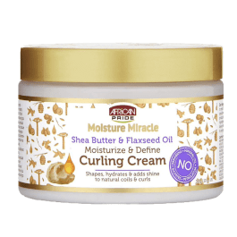 African Pride Moisture Miracle Shea Butter & Flaxseed Oil Curling Cream 340gr