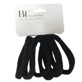 Elásticos suaves de cabelo (6 unid.)