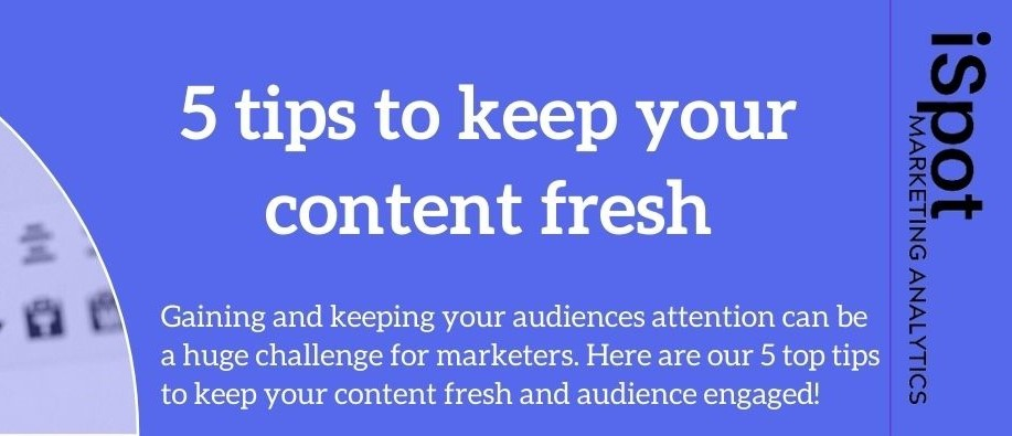 5 Tips To Keep Your Content Fresh