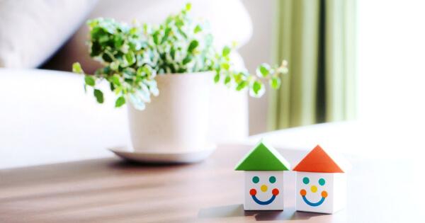 観葉植物と家