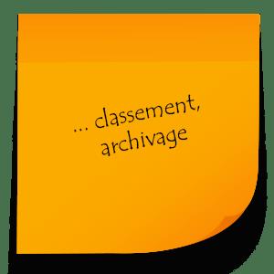 Service de classement et archivage