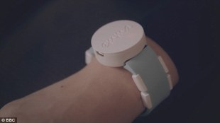 "photo of the wearable that reduces Emma's hand tremors because of her parkinson's. This wearable, that looks like a watch and is worn like that too, is called ""The Emma""."