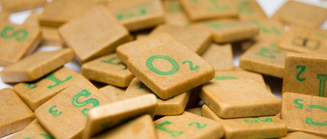 A pile of scrabble squares