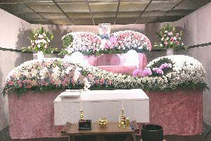 横浜市南部斎場・通夜・告別式のあるお葬式での写真・家族葬・密葬・一般葬イメージ