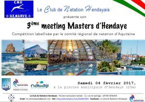 3ème Meeting Masters d'Hendaye @ Piscine municipale  Irandatz   Hendaye   Aquitaine   France