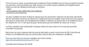 instructions Pass Sanitaire
