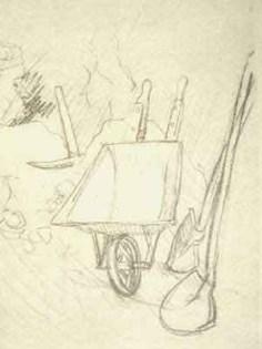 "Dessin N°87 de Boris Taslitzky : ""Nos outils"""