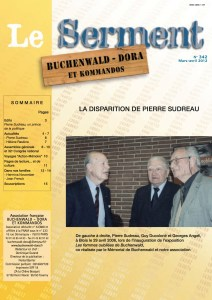SERMENT N°342 - mars avril 2012