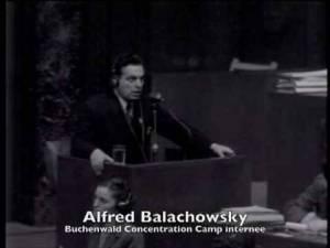 Alfred Serge Balachowsky témoignant au procès de Nuremberg