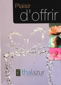 Coffret Thalazur loto association pierre favre
