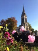 Octobre Rose Bordeaux logo association pierre favre giratoire eglise