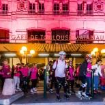 Passage à la Gare Matabiau illuminée en Rose à l'occasion d'Octobre Rose