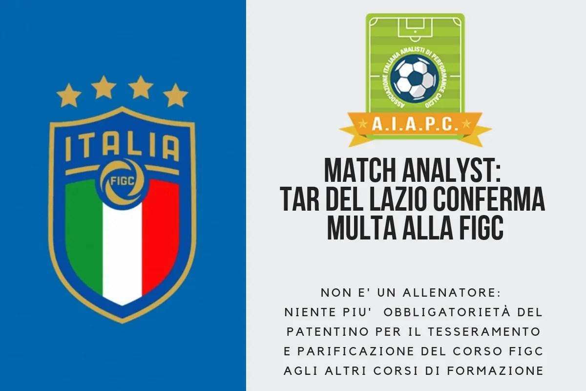 Match Analyst NON è Allenatore: TAR del Lazio conferma multa alla FIGC