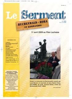 SERMENT N°325 - mai juin 2009