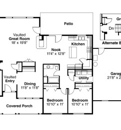 ranch house plan alpine 30 043 floor plan  [ 1280 x 853 Pixel ]