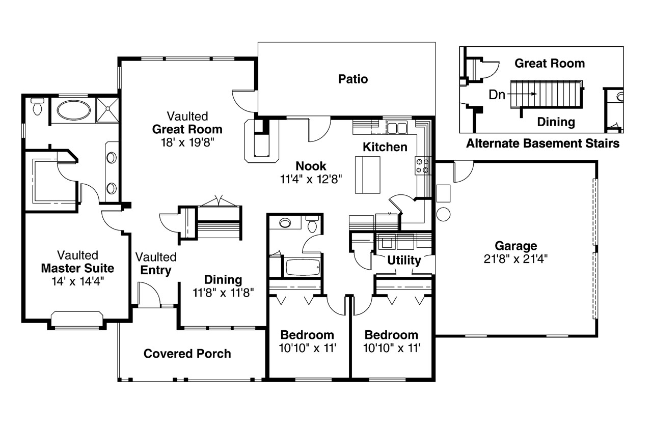 hight resolution of ranch house plan alpine 30 043 floor plan