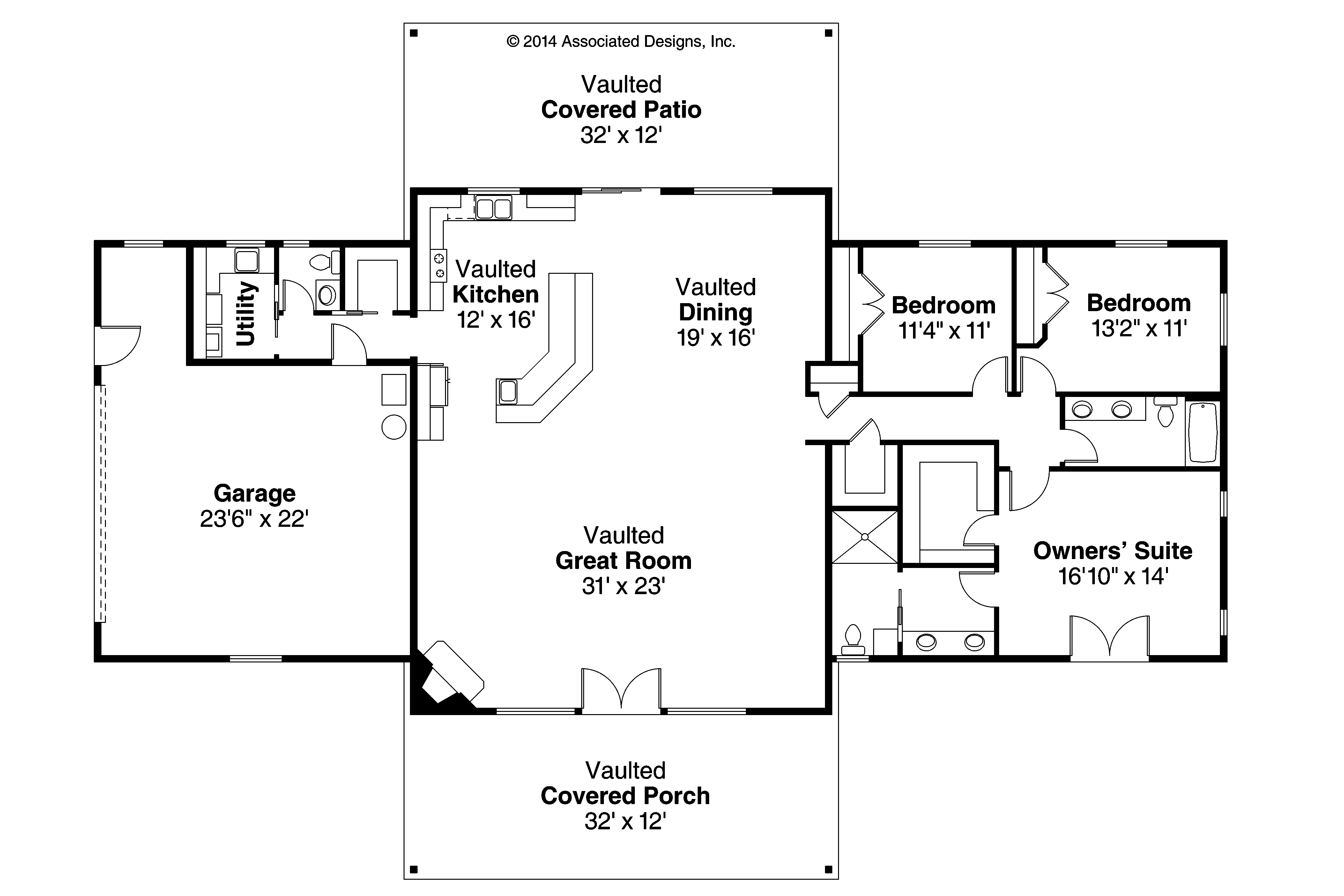 Best Kitchen Gallery: Ranch House Plans Anacortes 30 936 Associated Designs of Floor Plan Designs For Homes  on rachelxblog.com