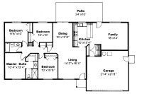 Ranch House Plans - Weston 30-085 - Associated Designs
