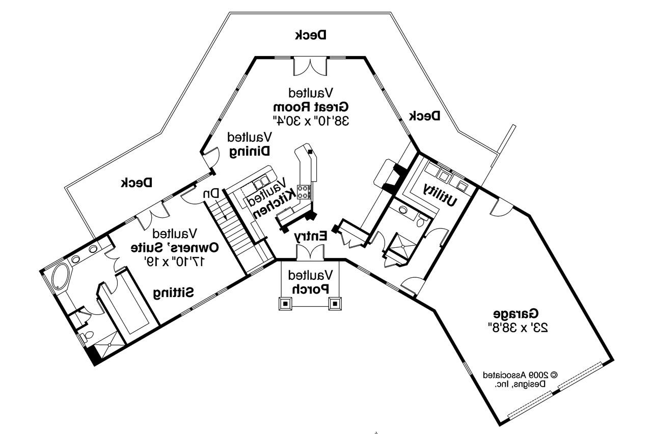 V shaped ranch house plans