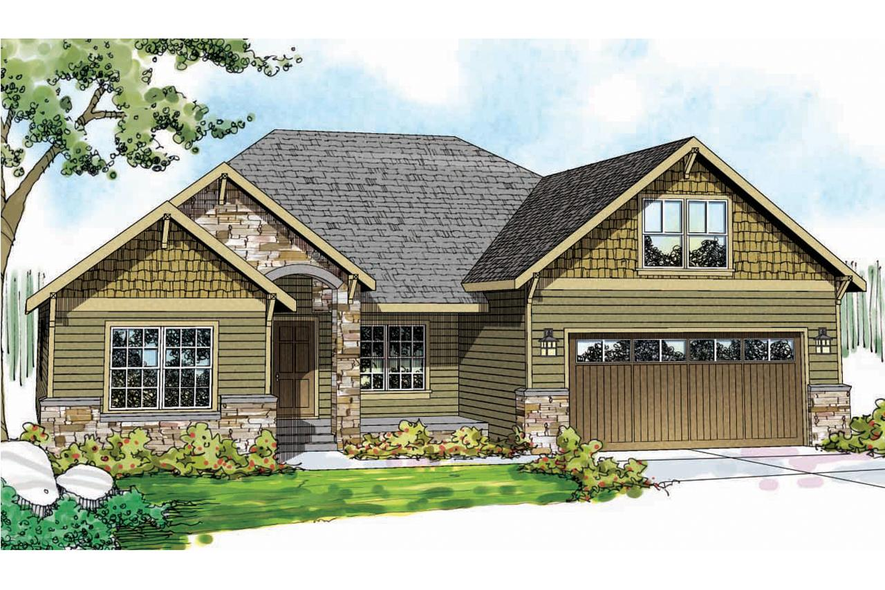 Craftsman House Plans  Cascadia 30804  Associated Designs