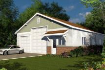 Home with Attached RV Garage Plans