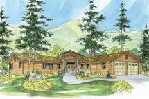 Lodge Style House Plans - Viewcrest 10-536