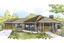 Prairie Style House Plans - Baltimore 10-554