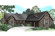 Ranch House Plans with Courtyard Garage