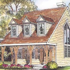 Cape Cod Style House Living Room Images For Designs Plans Langford 42 014 Associated Plan Front Elevation