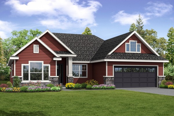Barrington House Plan Handsome Country-style Exterior