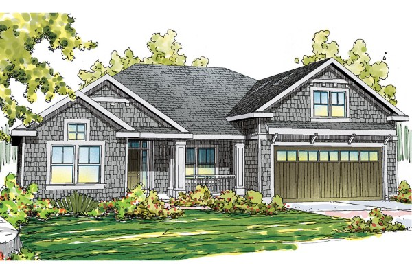 Craftsman House Plans - Greenleaf 70-002 Design