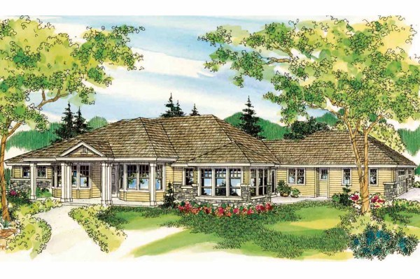 Florida House Plans - Cloverdale 30-682 Design