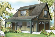 Craftsman House Plans - 2 Car Garage Withattic 20-087